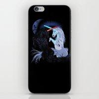 Starwars with unicorns (black) iPhone & iPod Skin