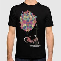 Love To Ride My Bike Wit… Mens Fitted Tee Black SMALL