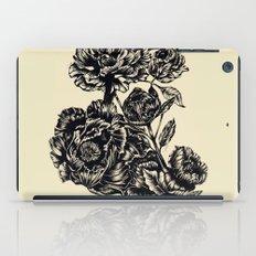 Peonies, black & white  iPad Case