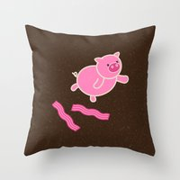 Don't Stop Piggin' Out Throw Pillow