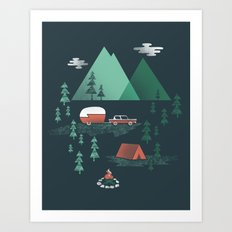 Pitch A Tent Art Print