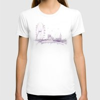 Watercolor Landscape Ill… Womens Fitted Tee White SMALL