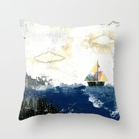 The Sailboat Throw Pillow