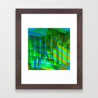 bluegreen Framed Art Print