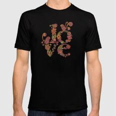 Love SMALL Black Mens Fitted Tee