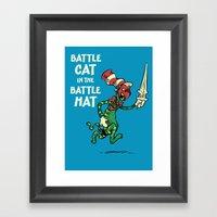 Battle Cat In The Battle… Framed Art Print