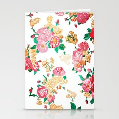 Vintage Rose Wallpaper Stationery Cards