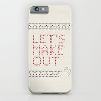 iPhone & iPod Case featuring Let's make out by basilique
