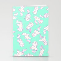 Lazy Cat Pattern Solid Stationery Cards