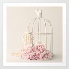 Rose Cage Art Print