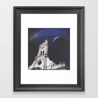 And The Moon Sees Me Framed Art Print