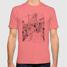 Kyoto - the old city Mens Fitted Tee Pomegranate SMALL
