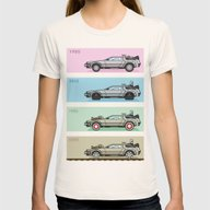 Back To The Future - Del… Womens Fitted Tee Natural MEDIUM