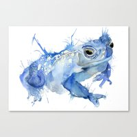 Big Blue Toad Canvas Print