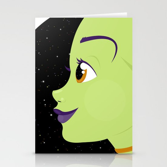 Alien Chick Stationery Card