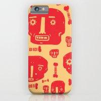 Skulls & Bones - Red/Yellow iPhone 6 Slim Case