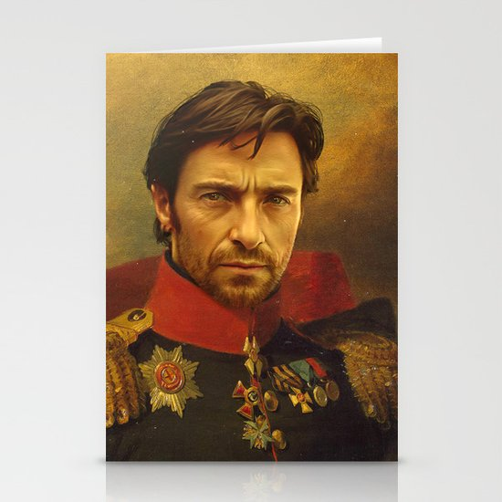 Hugh Jackman - replaceface Stationery Card