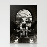 Room Skull B&W Stationery Cards