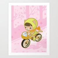 Blossom Ride Art Print