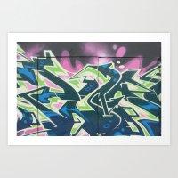 graffiti Art Prints featuring Graffiti by Chrissy Gensch