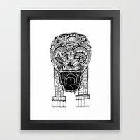 Jaw Lock Framed Art Print