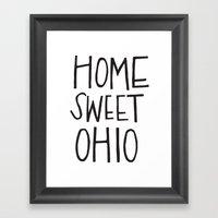 Home Sweet Ohio Framed Art Print