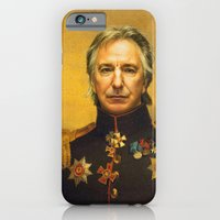 iPhone & iPod Case featuring Alan Rickman - replaceface by replaceface