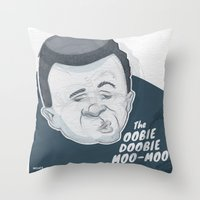 The Oobie-Doobie Moo Moo Throw Pillow