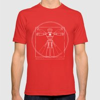 Robot Anatomy Mens Fitted Tee Red SMALL