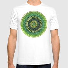 Pattern Earth Bliss Mens Fitted Tee White SMALL