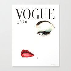 Vintage Vogue Magazine Cover. Fashion Illustration. Canvas Print