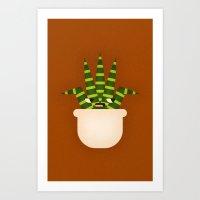 Tiger Plant Art Print
