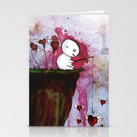 Fishing for hearts Stationery Cards