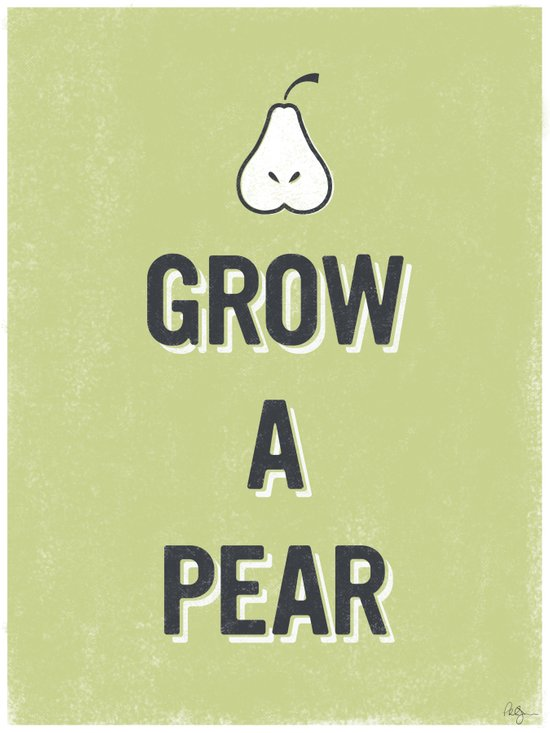Grow A Pear Art Print