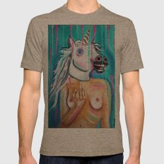 Because I'm a unicorn, that's why Mens Fitted Tee Tri-Coffee SMALL