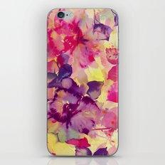 abstract aqua floral iPhone & iPod Skin