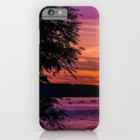 iPhone & iPod Case featuring Sunset Over the Beach  by Dana E
