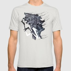 A Forest's Darkness Mens Fitted Tee Silver SMALL