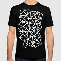 Abstract Outline Thick W… Mens Fitted Tee Black SMALL
