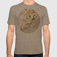 Popcorn Mens Fitted Tee Tri-Coffee SMALL