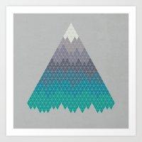 Many Mountains Art Print