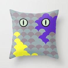 Chesire Scales - Cat Eye - Wonderland Throw Pillow
