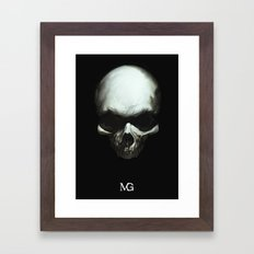 Dark Skull Framed Art Print