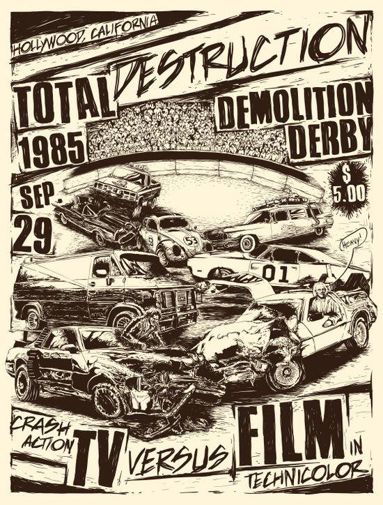 Demolition Derby Art Print