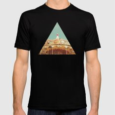 Carousel Lights Mens Fitted Tee Black SMALL