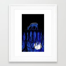 deep blue forest Framed Art Print