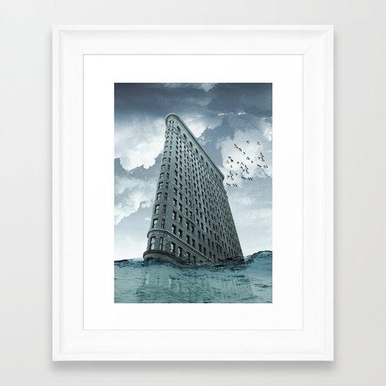 below the water line Framed Art Print
