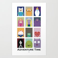 Minimalist Adventure Time Poster Art Print