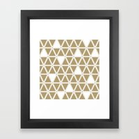 Tan Triangles Framed Art Print