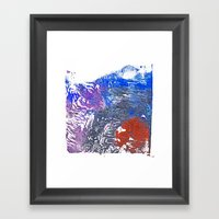 Cold Blue and Sandstone Framed Art Print